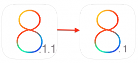توقف الترقية العكسية الى iOS 8